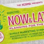 KCDMA 2018 Symposium Logo: Now & Later