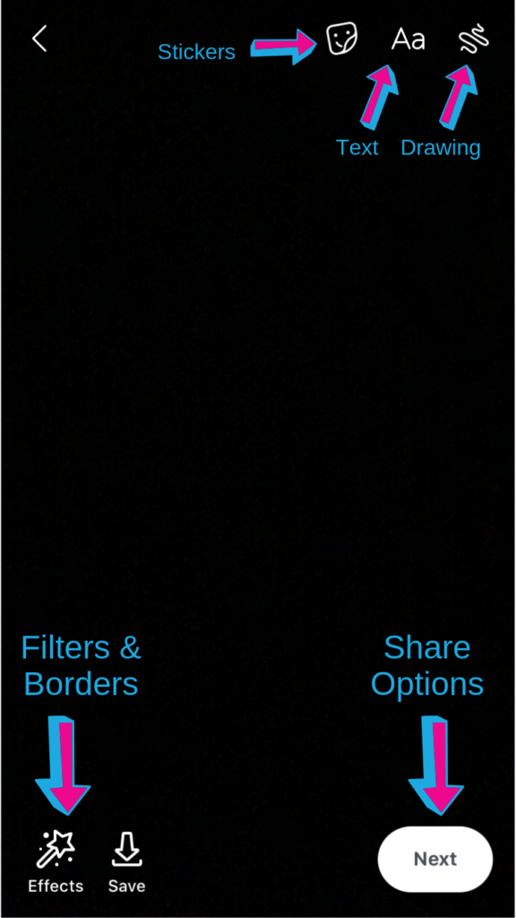 Facebook Story Options