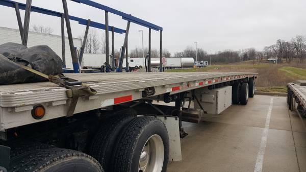 2005 Flatbed semi trailer $15000