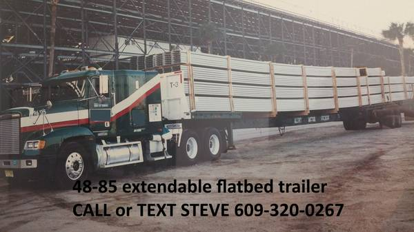 48 - 75 FOOT EXTENDABLE FLATBED FLAT BED TRAILER STRETCH SEMI TRAILER (Riverside) $6500