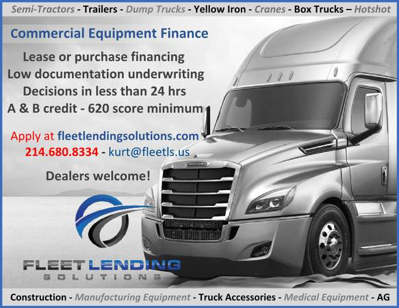 Truck, Trailer, AG & Construction Equipment Financing (Provo)