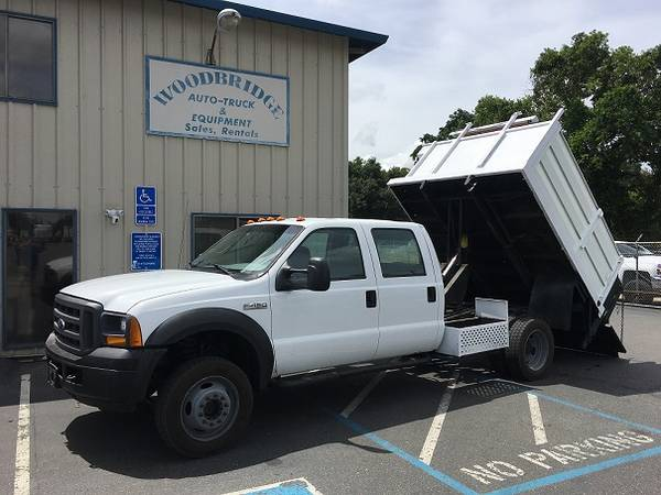Ford F 450 4x4 Crew Cab Dump Truck With Lift Gate and Removable Sides (woodbridge) $24500