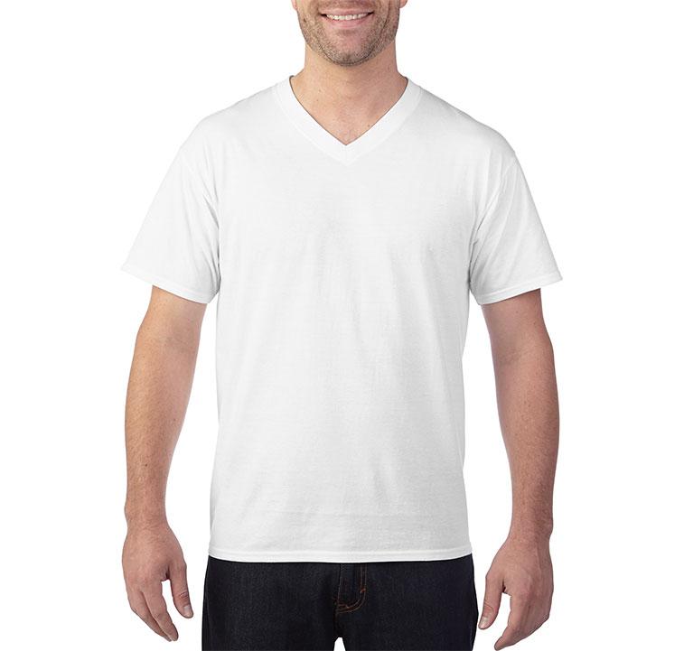 GILDAN 150g全棉平紋成人短袖V領T恤