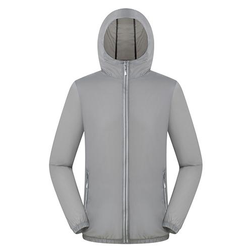 快乾單層防UV反光拉鏈輕薄風衣