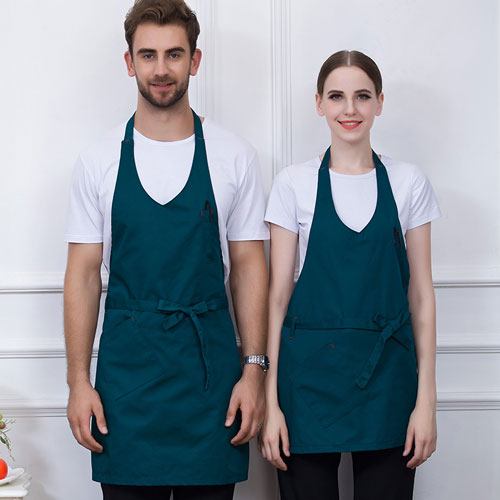 CITY FOCUS 滌棉V領筆袋款掛頸圍裙(5色選擇)