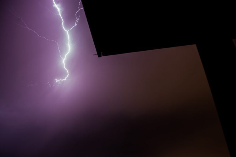 Lightning bolt in Las Cruces New Mexico.