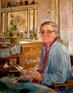 Self Portrait by Edith Kramer. Via Edithkramer.com.