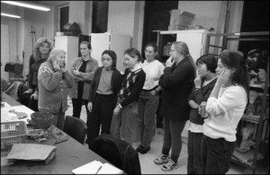 Kramer with her Art Therapy students at NYU. Photo by H. Stroyman.