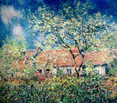 Springtime at Giverny. Claude Monet.