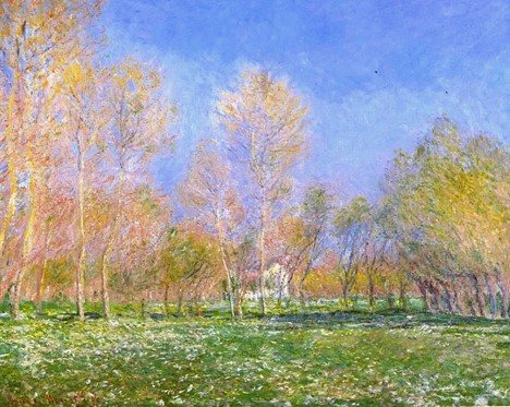 Springtime in Giverny. Claude Monet.