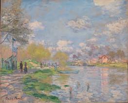 Spring by the Seine. Claude Monet.