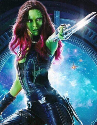 Zoe Saldana as Gamora in Guardians of the Galaxy. Via pinterest.com