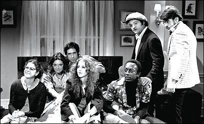 Saturday Night Live Season One cast. Via boston.com.