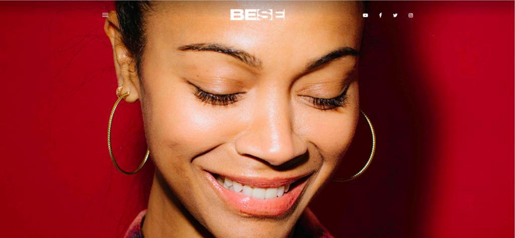 Zoe Saldana featured on BESE. Via bese.com