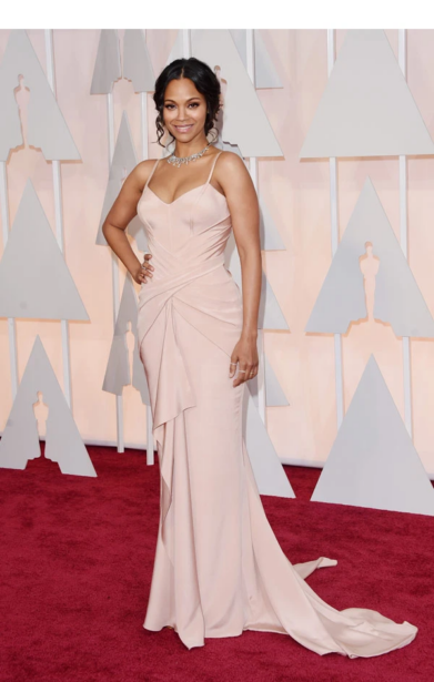 Zoe Saldana at the Oscars. Via hollywoodlife.com