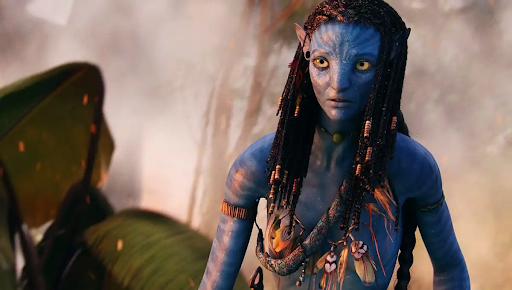 Zoe Saldana as Neytiri in Avatar. Via usmagazine.com