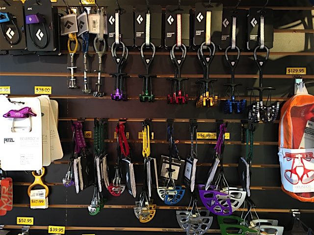 trad gear at On The Rocks