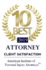 Top 10 Attorney for Client Satisfaction.