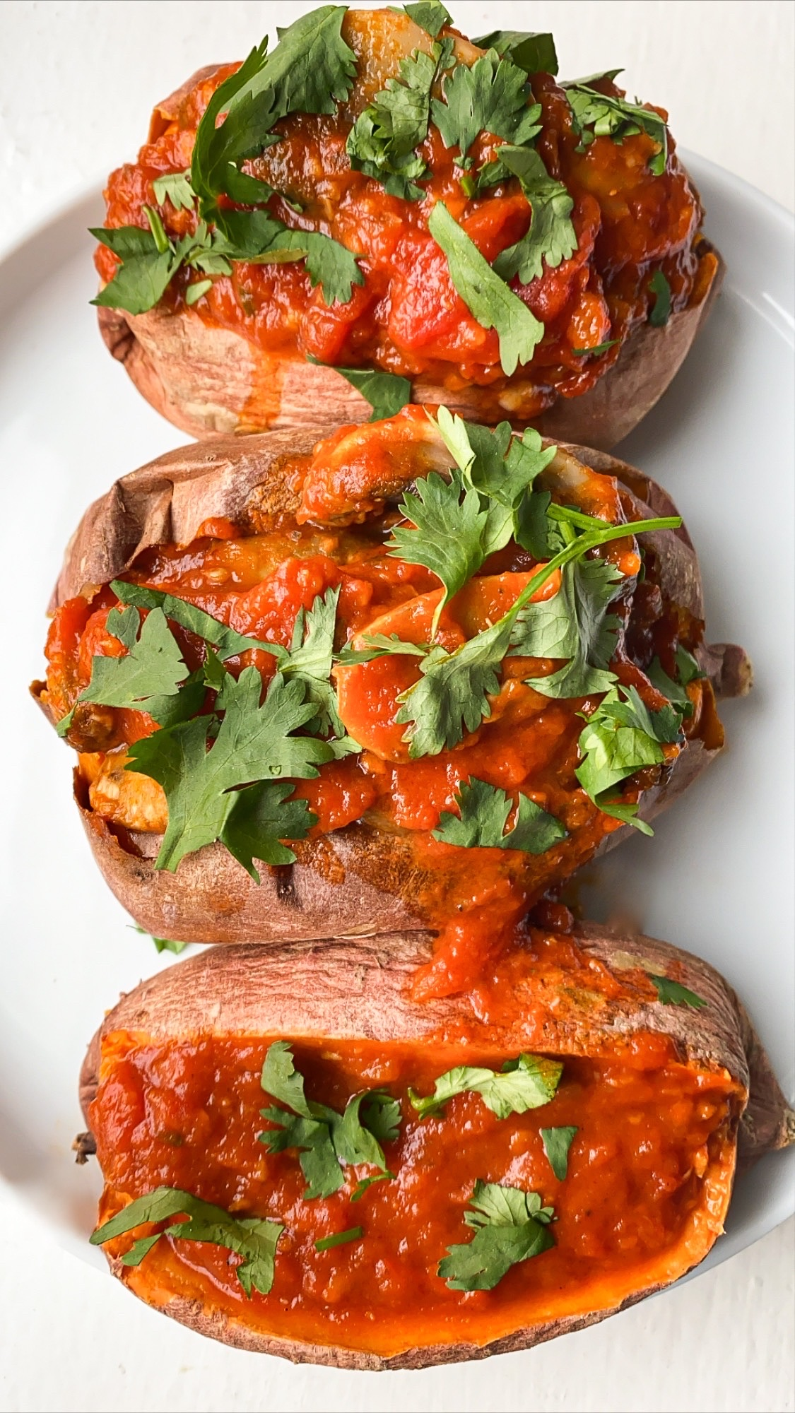 Mushroom Stuffed Sweet Potato