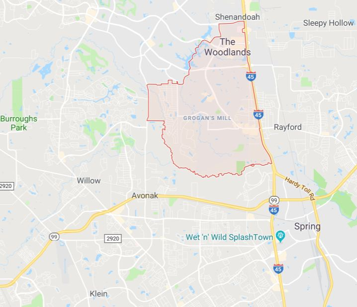 House Cleaning Service Area in The Woodlands
