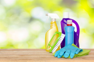 What do you need to clean a bathroom