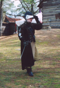 Me after a rapier duel during our fencing club's appearance at a local Renaissance faire.