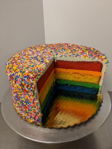 118 Rainbow Cake and Pressed Rainbow Jimmies