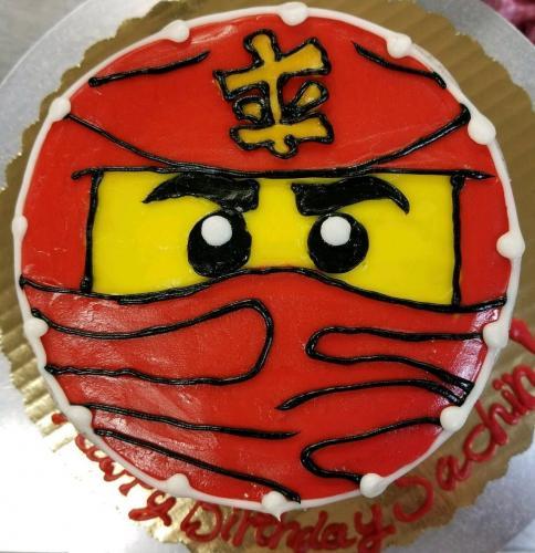 71 Ninjago Face Whole Cake