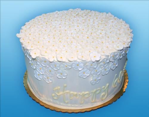 154 White Sugar Flower Top