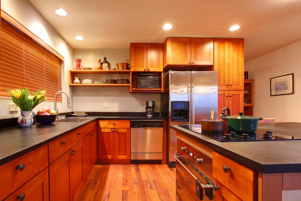 Luxury modern cherry kitchen