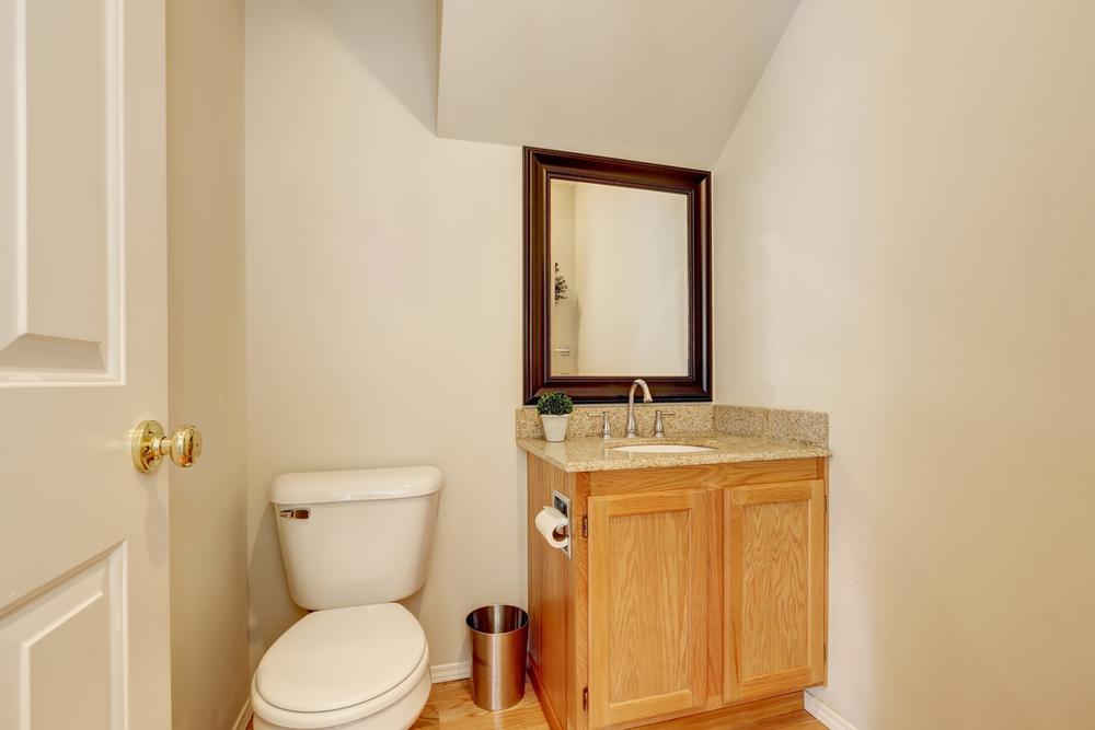 smaller bathroom space vanity installation