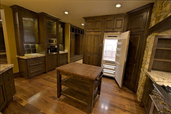 kitchen with floating island