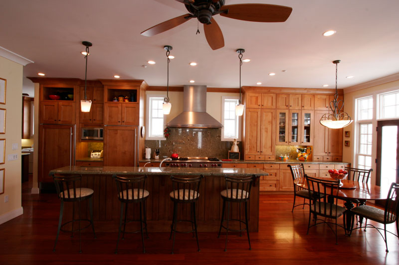 huge kitchen with island and bar
