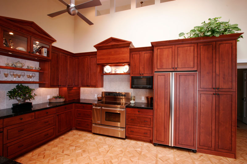 cabinets with built in fridge