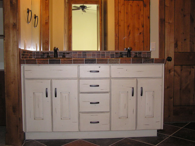 white double sink cabinets