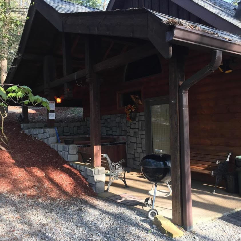 Grill Area & Hot Tub