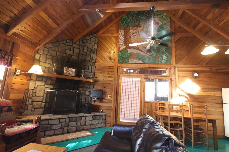 Living and Kitchen Area Showcasing Pignato Wood Art