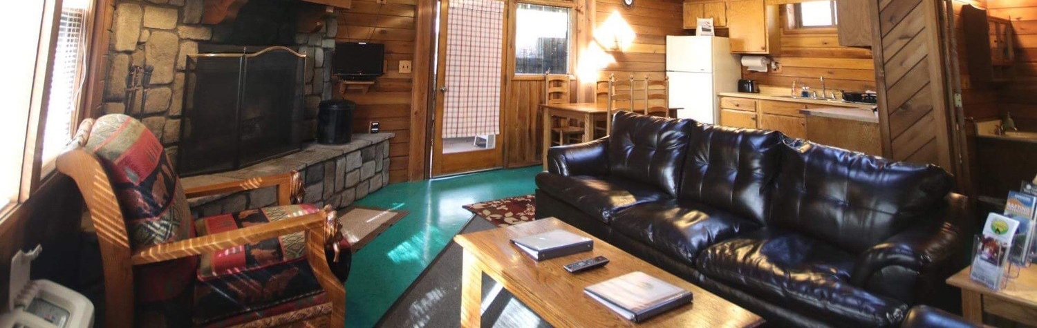 New River Gorge Cabins living area