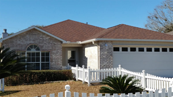 Image of home shingled in Duration Brownwood by Taylor Enterprises Inc.