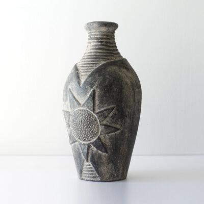 monumental-sunflower-stoneware-floor-vase