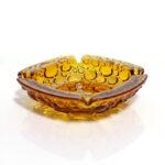 blenko-bubbles-amber-square-ashtray-dish