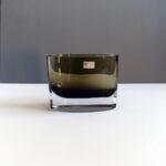 Gral-Kristall-Germany-olive-green-oval-vase