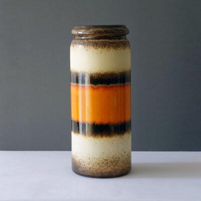scheurich floor-vase-orange-band