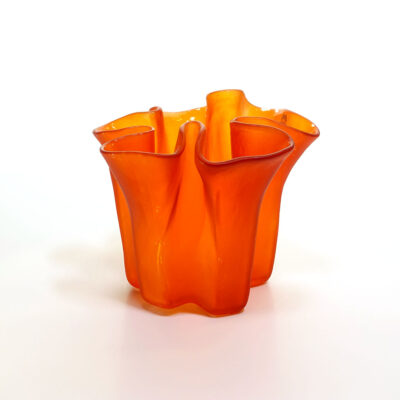 muurla-finland-satin-orange-art-glass-vase