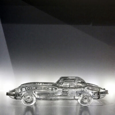 Nazeing Glass Works Jaguar E-Type Crystal Model