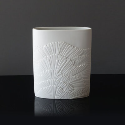 white-matte-bisque-porcelain-op-art-vase-rosenthal-