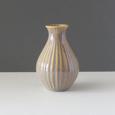 contemporary-gold-gray-ribbed-bud-vase
