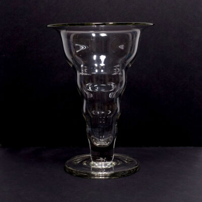 large-hooped-clear-footed-glass-vase