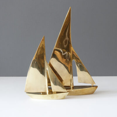 pair-brass-mcm-sailboats