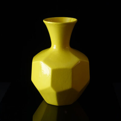 royal-haeger-yellow-faceted-vase
